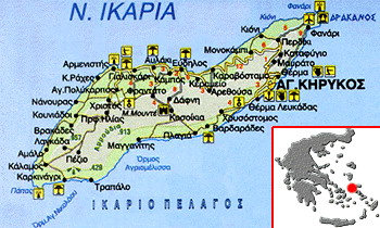 Χάρτης της Ικαρίας