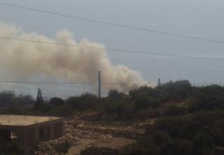 Φωτιά στο εργοστάσιο της ΔΕΗ